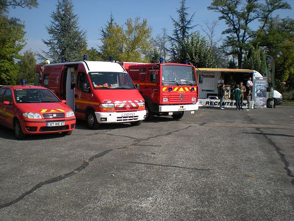 Stand sapeurs pompiers